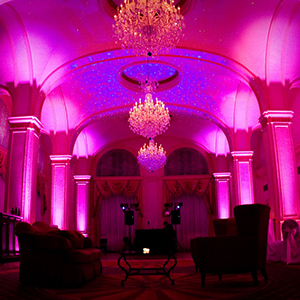 Add incredible visual effects to your event with uplighting